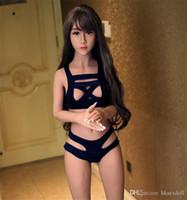 schöne silikon sex puppe spielzeug großhandel-158 CM Schöne Mädchen Sex Doll lebensechte Silikon Echte Schaufensterpuppen Liebespuppe 37. Kopf erwachsene geschlechtsspielwaren
