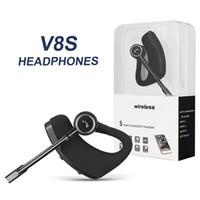 iphone headset verpackt großhandel-V8 V8S Bluetooth Kopfhörer Wireless Headset Freisprecheinrichtung Bluetooth Kopfhörer V4.1 Legende Stereo Drahtlose Ohrhörer Für iPhone Samsung Im Paket