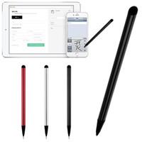 telas samsung usadas venda por atacado-7.0 Dual-use tela capacitiva Metal Stylus Tela Resistiva Dual-touch Touch Pen Navegação Celular Universal Stylus