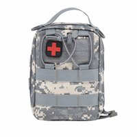 Wholesale emergency pack bag resale online - by DHL Emergency Kits Empty Bag with Strap Medical Car First Aid Kit Waist Pack D Nylon cm Outdoor Camping Tactical Molle Pouch
