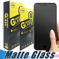 экранный матовый протектор для iphone оптовых-Матовый Закаленное Стекло-Экран Протектор 9H Anti-Fingerprint Proof Anti-Shatter Пленка Для iPhone X Xr Xs Макс 8 7 6 S Plus
