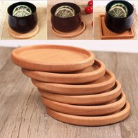 Wholesale solid wood table resale online - Solid Wood Coasters Coffee Tea Cup Pads Insulated Drinking Mats Teapot Table Mats home desk Mats Decoration WX9