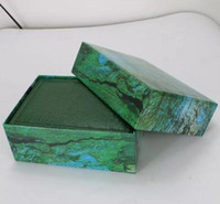 ahşap kasa toptan satış-Fabrika Tedarikçisi Lüks Yeşil Orijinal Kutusu Ile Ahşap İzle Kutusu Kağıtları Kart Cüzdan BoxesCases Kol Kutusu