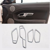 Wholesale for car lifts online - 4pcs For LandRover Range Rover Evoque Car Accessories Window Lift Button Frame Cover Trim For RHD