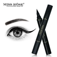 ingrosso timbro lungo-Miss Rose impermeabile Eyeliner Stamp Doppia testa nera Long Lasting trucco Eye Pencil