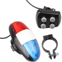 Wholesale police car horn resale online - Horn Picture Bell Sounds Accessories Car Bike LED Geometric Bicycle Light g Police Bicycle tone electronic horn E1