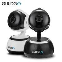 stift verstecken hd kamera großhandel-GUUDGO GD-SC02 720P Wireless Camcorder-Kamera PanTilt IR-Cut Nachtsicht Zwei-Wege-Audio Cloud-Service IOS Android