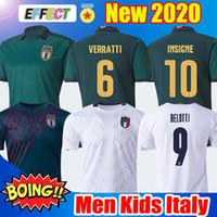 camiseta de fútbol blanca para hombre al por mayor-2019 2020 ITALY BARELLA SENSI INSIGNE ITALIA camiseta de fútbol 19 20 Copa de Europa Renacimiento CHIELLINI BELOTTI ITALIA BERNARDESCHI conjuntos de hombres y niños