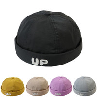 Wholesale mens beanie cap black resale online - Fashion mens designer thin luxury beanies landlord hat for male women Europe and American street hipster hip hop hat and male hooligan cap
