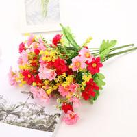 маленькие орхидеи оптовых-Моделирование 7 Вилка Прыжки Орхидея хризантема 28 Маленькая Daisy танец хризантема маленький букет Домашнее украшение Фото Prop цветок