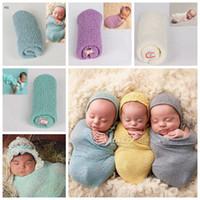 toallas de bebé recién nacido al por mayor-21 colores para niños Proyectos de fotografía Studio Bebés recién nacidos Foto Toalla envoltura de hilo sólido elástico puro Envío rápido gratis