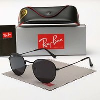 homens aviador óculos de sol venda por atacado-Marca de luxo Aviator Ray Sunglasses Vintage Pilot Brand Band UV400 Bans de proteção Mens Das Mulheres Dos Homens Das Mulheres Ben wayfarer óculos com caixa 3447
