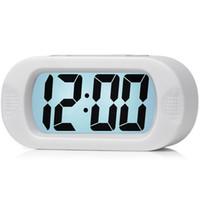 ночной будильник оптовых-HOT SALE Large Digital Lcd Travel Alarm Clock With Snooze Good Night Light, Ascending Sound Alarm & Handheld Sized, Best Gift
