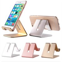 Wholesale tablets ipad2 resale online - Universal Aluminum Metal Cell Phone holder pad Tablets PC Desk Stand Bracket For iphone xs MAX xR ipad2 mini S9 S9plus