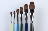 yağlıboya fırçalar toptan satış-X3-608 6 Boyutları / set Yağlıboya fırçaları Yağlı Boya Fırçaları Çizim Boyama Profesyonel Sanat Boya Fırçası boya ...