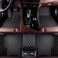alfombrillas de auto 3d al por mayor-esteras especiales del piso del coche 3D personalizado para Volkswagen Modelos de golf polo Tiguan Passat ajuste jetta Touran Touareg VW Phaeton Bcarpet estera
