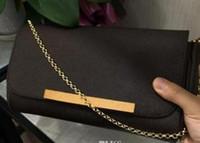 eva clutch tasche großhandel-2019 neue marke tasche EVA KUPPLUNG Damier Ebene einkaufstasche aus echtem leder taschen M40718 kleine kette handtasche umhängetasche geldbörse M40717 M41277