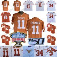 jerseys de texas longhorns al por mayor-Costumbre de Texas Longhorns Jersey de fútbol de la universidad Sam Ehlinger Keaontay Ingram, Vince Young Roschon Johnson Devin Duvernay Juwan Mitchell