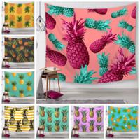 ev dekor ananas toptan satış-25 Stiller Ananas Serisi Duvar Halılar Dijital Baskılı Plaj Havlu Banyo Havlusu Ev Dekorasyonu Masa Örtüsü Açık Pedler CCA11587-A 20pcs