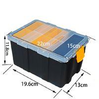 Wholesale screws waterproof resale online - Industrial ABS Plastic Transparent Cover Tool Box Waterproof Wear Resistant Metal Storage Box Modular Parts Screw