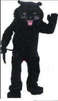 mascote real venda por atacado-Carnaval de alta qualidade adulto panteras traje da mascote frete grátis, Real fotos de festa de luxo o leopardo traje da mascote direto da fábrica