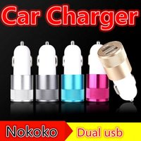Wholesale amps phone for sale - Group buy Car chargers Metal Dual USB Port Car Charger Universal Volt Amp for iphone ipod Samsung htc android phone mp3 gps