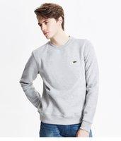 beyzbol sweatshirt siyah toptan satış-G2Lacoste Erkek Baseball Kapüşonlular Baskı Casual Kaban Köpekbalığı Baş Coat Stil Moda Artı boyutu Gevşek Tişörtü Siyah Kaykay
