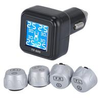 sensor tpms inalámbrico al por mayor-Sistema de monitoreo de presión de llantas TPMS CAREUD Neumáticos de motocicleta inalámbricos Motor Auto Alarma de llantas Impermeable con sensores externos