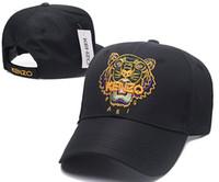 nuevo sombrero para hombre al por mayor-Diseñador para hombre Gorras de béisbol Nueva marca de lujo Sombreros Oro Tigre bordado hueso Hombres Mujeres casquette Sol papá Sombrero Gorras Deporte snapback Cap
