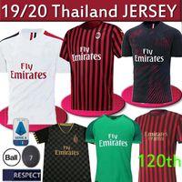 saison fußball groihandel-Neue Saison AC Mailand-Fußball Jersey 2019 2020 Thailand HOME AWAY 3. Trikots Calhanoglu Borini MEN + KID 19 20 Fußballhemd
