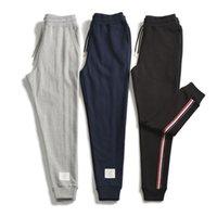 tissage plus proche achat en gros de-Tide marque TB19 automne nouvelle ceinture tissée latérale sport casual fermeture pantalon pantalon en coton