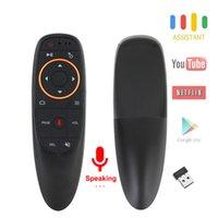 fernluft maus stimme großhandel-G10S Voice Air Mouse mit USB 2.4GHz Funk 6 Achsen Gyroskop Mikrofon IR Fernbedienung Für Android TV Box, Laptop, PC