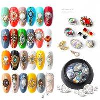 3d nail art bow yeni toptan satış-24 Stilleri Güzellik 3D Rhinestones Çeşitli DIY Taşlar Yeni Büyüleyici Mix Nail Art Dekorasyon Yay / Su damlası Takı Jel Glitter Nail Art Dekorasyon