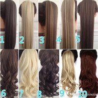 Wholesale clip hair ponytail hairpieces for sale - Group buy 23 quot Long Curly Clip In Hair Tail False Ponytail Hairpiece With Hairpins Synthetic Hair Pony Tail Hair Wig net