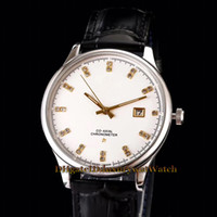 Wholesale constellations watch for sale - 2019 New CONSTELLATION mm Date White Dial Japan Miyota Automatic Mechanical Mens Watch Steel Case Leather Strap Sapphire Glass Watches