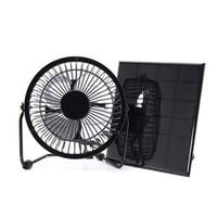 motor do ventilador mais frio venda por atacado-Solar Powered Fan Ventilador De Energia Livre De Energia para Casa de Casa Com Motor de Estufa Casa De Frango Ao Ar Livre Casa Refrigeração RV Gazebo Carro