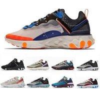 sapatas dos homens do verde escuro venda por atacado-Nike Air React Element 87 sneakers executando sapatos para as mulheres dos homens Dark Gray Blue Chill instrutor 87s Sail Verde Névoa Sports Sneakers