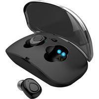 bluetooth stereo ahizesiz iphone mini toptan satış-X18 TWS Görünmez Mini Kulakiçi Kablosuz Bluetooth Kulaklık 3D Stereo Handsfree Gürültü Azaltma Bluetooth Kulaklık ile iphone için Şarj Durumda