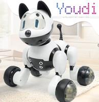 raposa eletrônica venda por atacado-Pet Eletrônico Família - Interativo Inteligente Filhote De Cachorro Cão / Kitty Gato Engraçado Reconhecimento De Voz Robô De Brinquedo Para Crianças