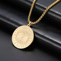 Wholesale long chain necklace for men resale online - Skyrim Vintage Viking Tree of Life Runes Necklace Stainless Steel Statement Long Box Chain Amulet Necklaces Jewelry Gift for Men