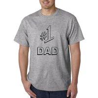 número do dia venda por atacado-T-shirt do PAIZINHO # 1 - T engraçado do número um do presente do dia de pais LOL!