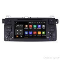 bmw audio großhandel-Joyous Autoradio Single 1 Din Quad Core 1024 * 600 Auto DVD Plyer GPS Navigation Für BMW E46 M3 318 320 325 Head Unit Audio Stereo