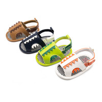 Wholesale shoes baby boy animal online - 0 t cute Cartoon baby shoes Summer toddler boy shoes infant shoes baby boys sandals Moccasins Soft First Walking Shoe Newborn sandals A5484