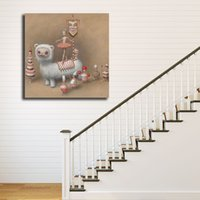 Wholesale pop art home decor canvas for sale - Group buy The Art Of Whipped Cream By Mark Ryden Canvas Painting POP Wall Art Street Poster HD Picture Print Decorative Living Room Home Decor