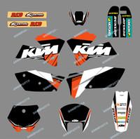 motosikletler için desal kitleri toptan satış-Motosiklet Bisiklet SX 125 250 300 400 500 Sticker Grafik Kiti Çıkartması KTM Motosiklet SX 125/250/380 / 400/520 2005 2006