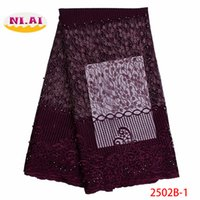 Wholesale African Lace Fabric Embroidered Nigerian Laces Fabric Bridal High Quality French Lace Fabric For Wedding Party XY2502B