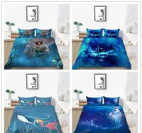 Wholesale mermaid bedding set resale online - Cartoon Mermaid Series Bedding Set Single Double King Size Beautiful Bedding Suit for Home Textile of Bedding Cover