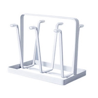 Wholesale pc racks online – 1 Creative Vintage Iron Mug Cup Glass Bottle Organizer Drying Rack Stand Holder new arrival