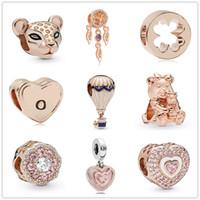 Wholesale sparkle bead bracelets for sale - Group buy new MOQ rose gold Sparkling Lion Princess Charm Dreamcatcher DORA BEAR diy bead Fit origianl Pandora Charm Bracelet D048