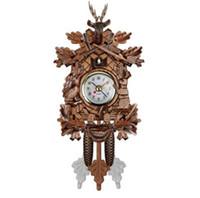 temps de vie achat en gros de-Coucou Horloge Murale Oiseau Réveil En Bois Horloge Suspendue Temps pour La Maison Restaurant Licorne Décoration Art Vintage Swing Salon